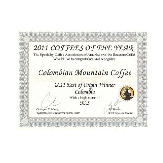 Colombian Exotic Coffee - price for coffee of the year